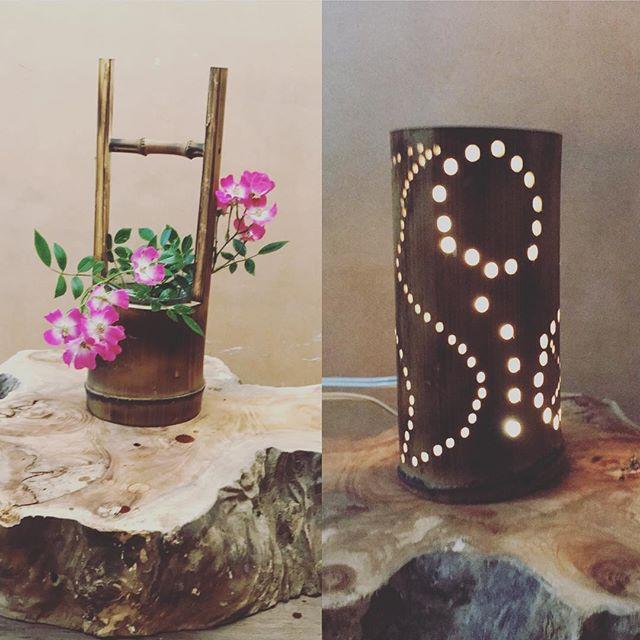 竹細工を始めた父に負けじと、母はランタンを作ったらしい。相変わらず仲良しだ (Instagram)